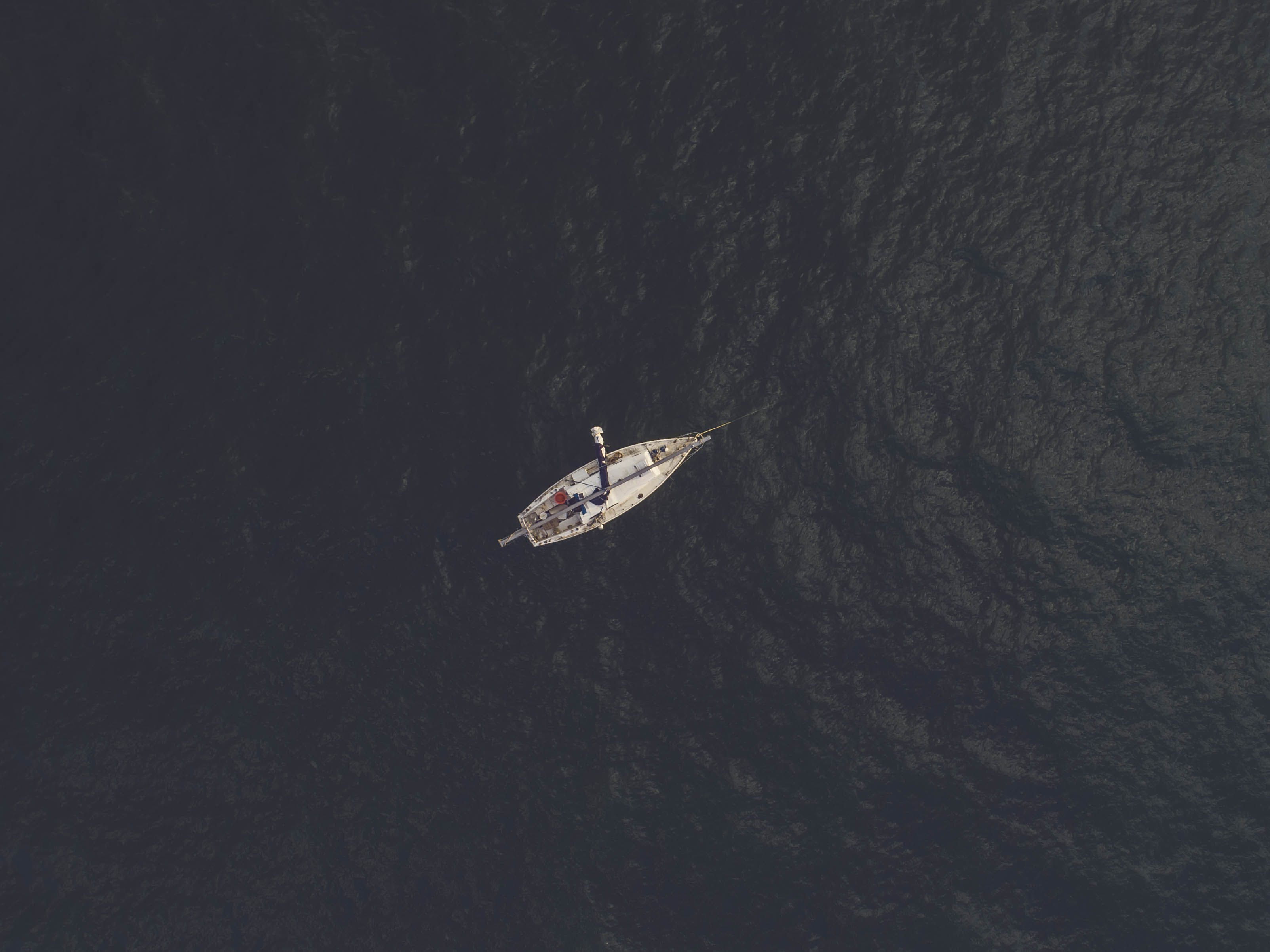 Top View Photography of Sailboat