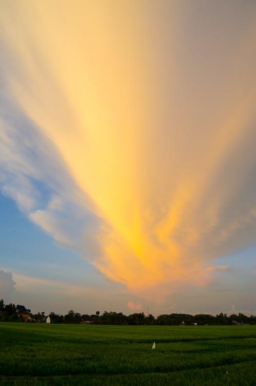 Fotos de stock gratuitas de cielo al atardecer, forma de nubes, naranja