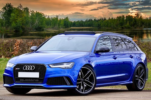 Photography of Blue Wagon Audi