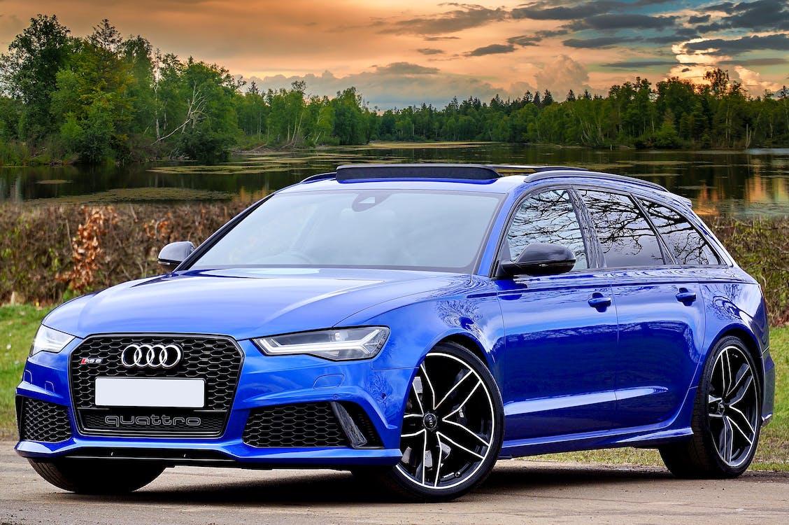 Photography of Blue Wagon Audi