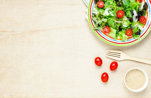 Free stock photo of appetizer, background, bowl, cesar salad