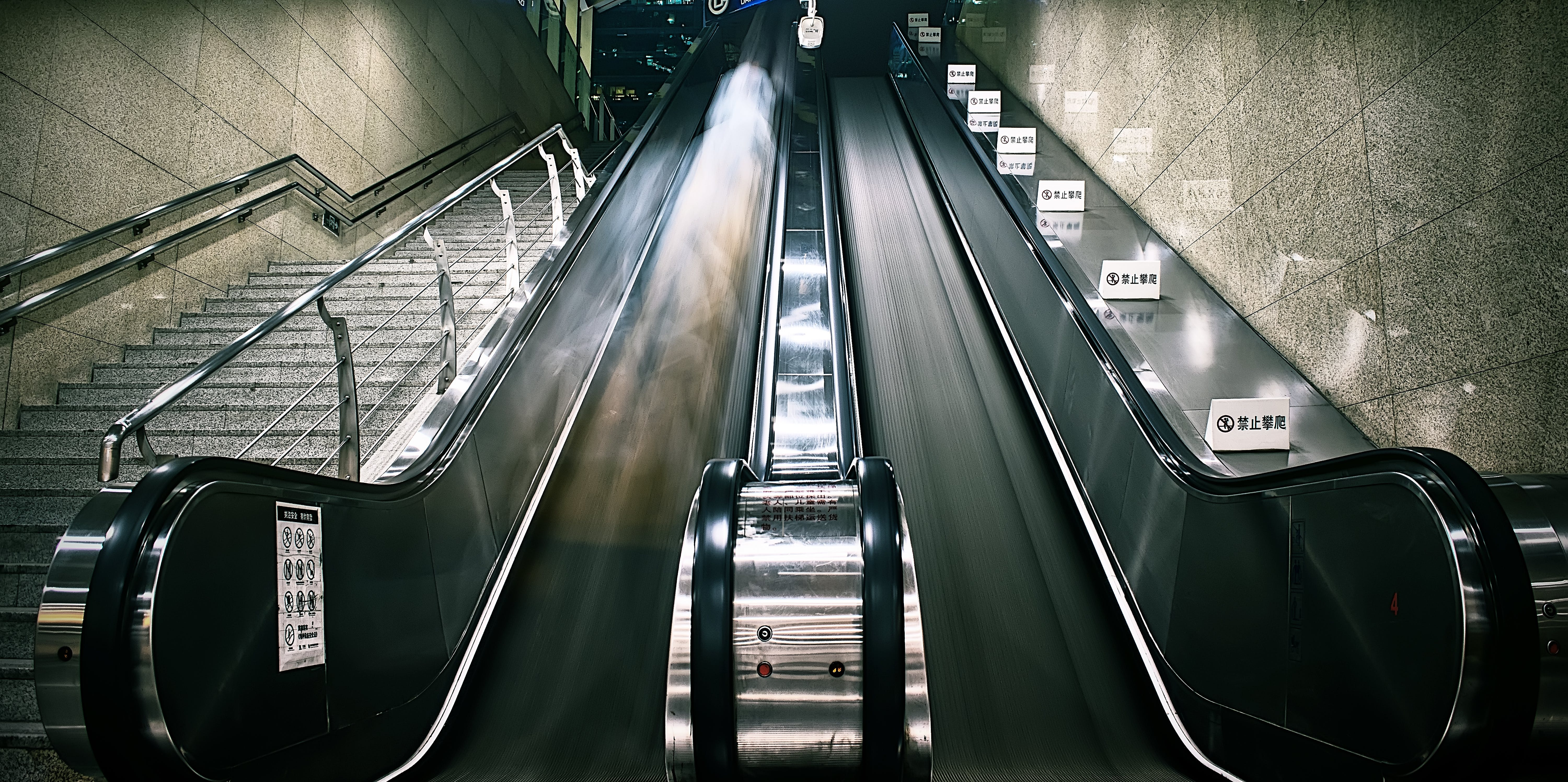 Photography of Escalator and Stairs