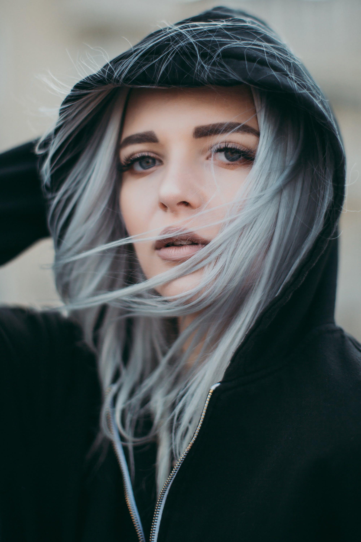 atraktivní, černá kapuce, dospělý