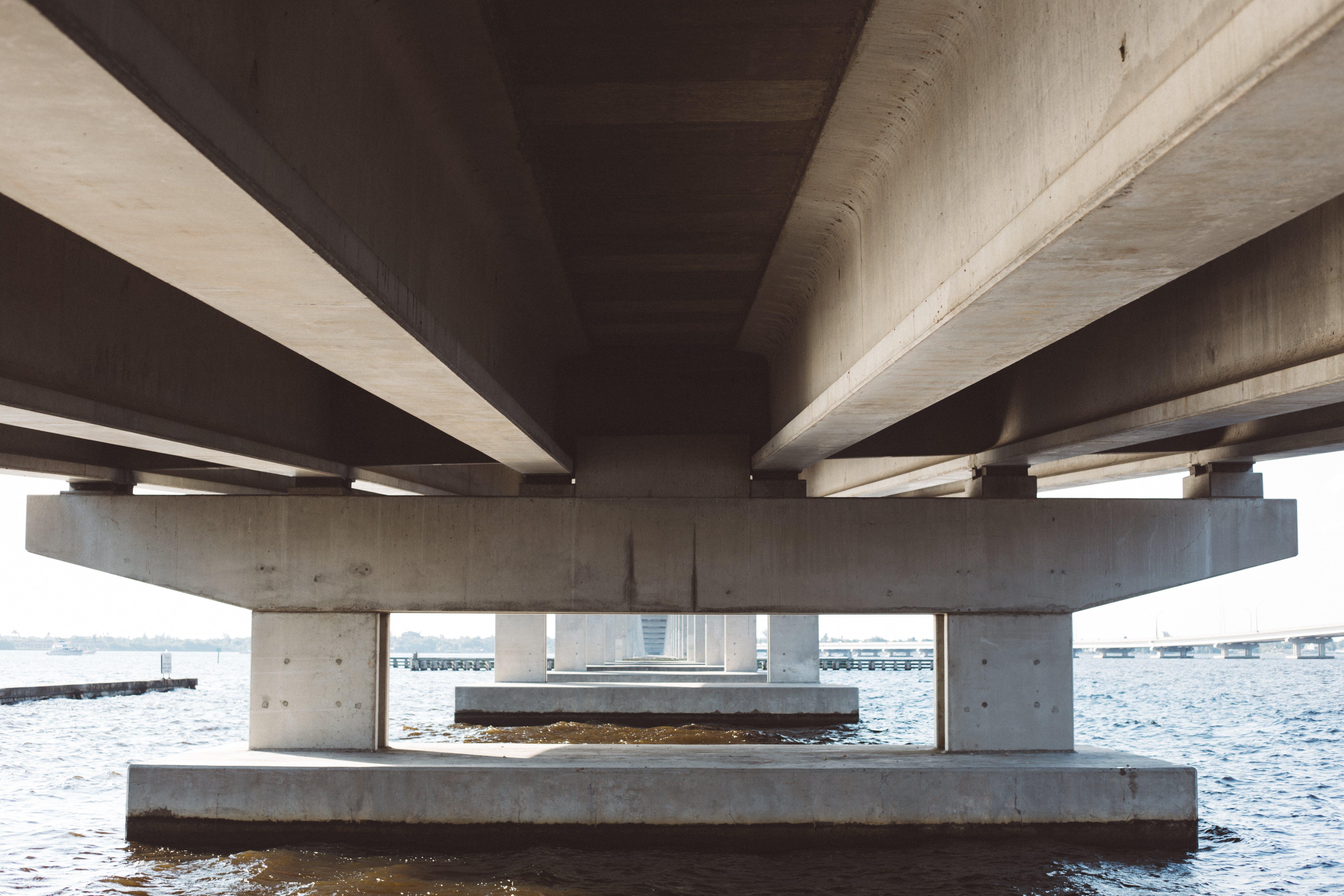 architecture, bridge, concrete