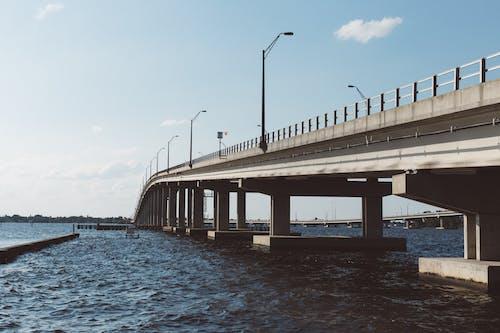 Безкоштовне стокове фото на тему «інфраструктура, вода, міст, море»
