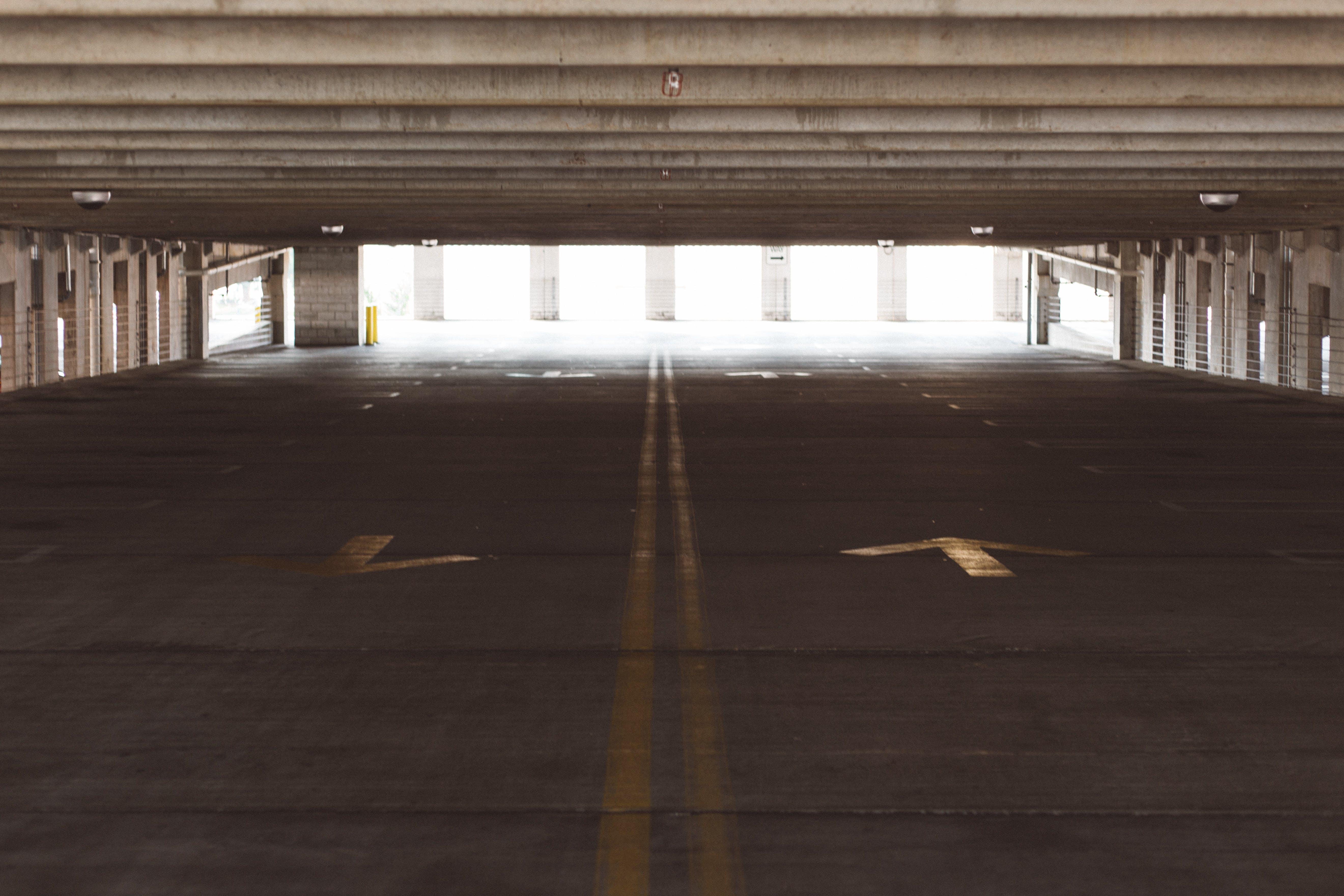 Empty Gray Building Pathway