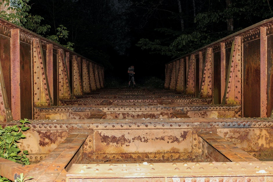 Steel Bridge during Nightime