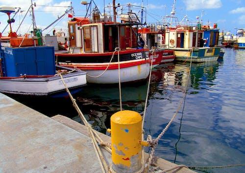 Free stock photo of fishing boats