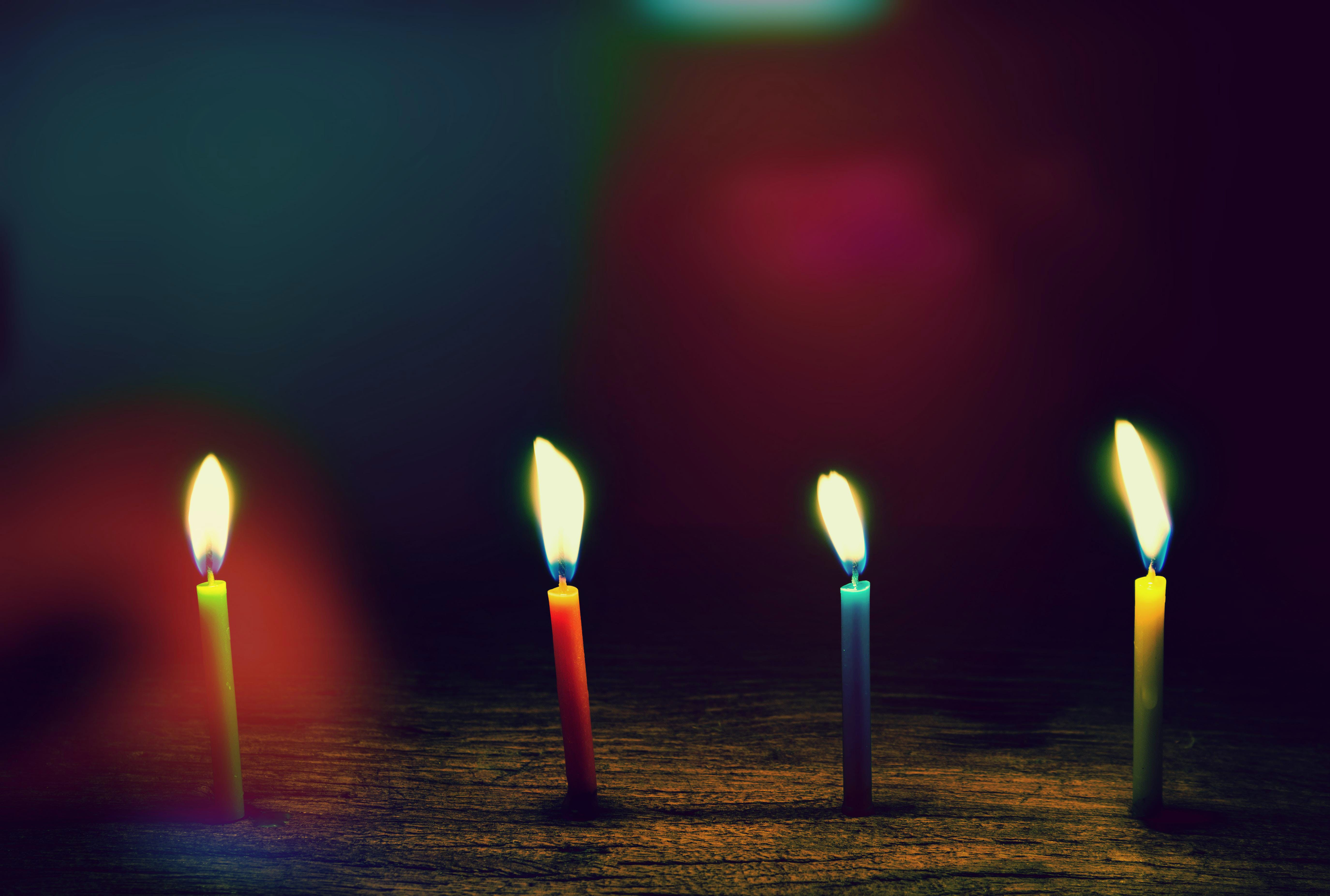 Four Assorted Candles