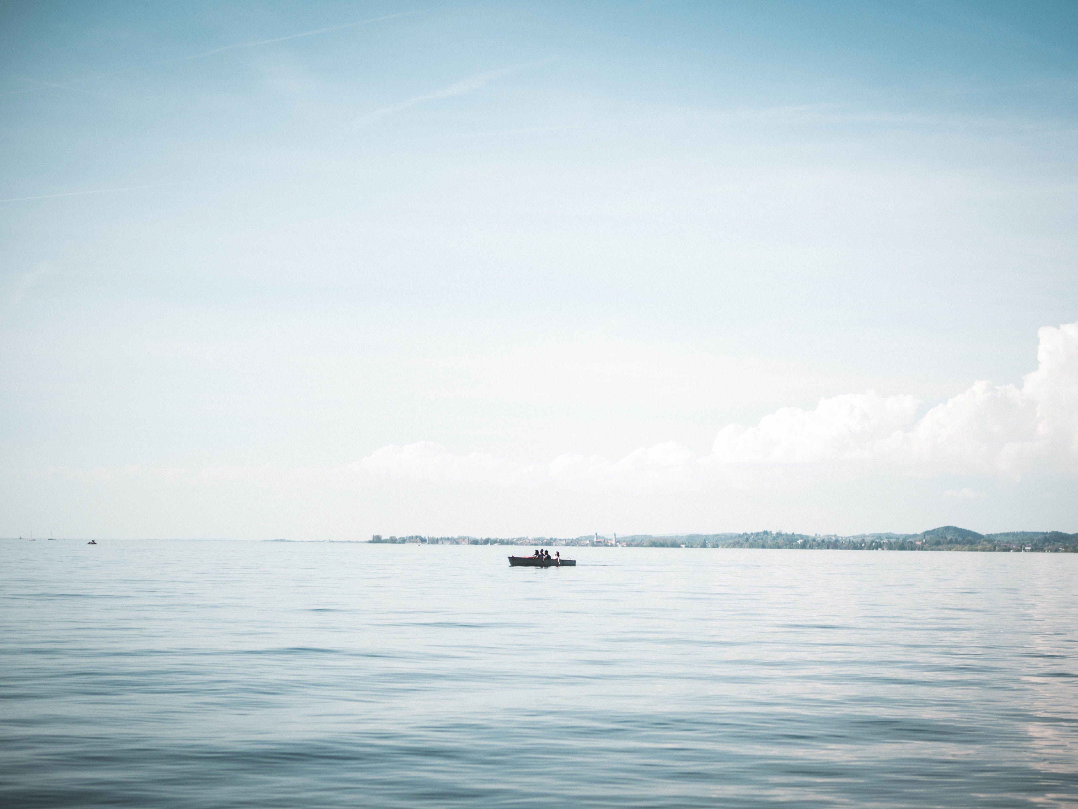 Boat on Calm Body of Water