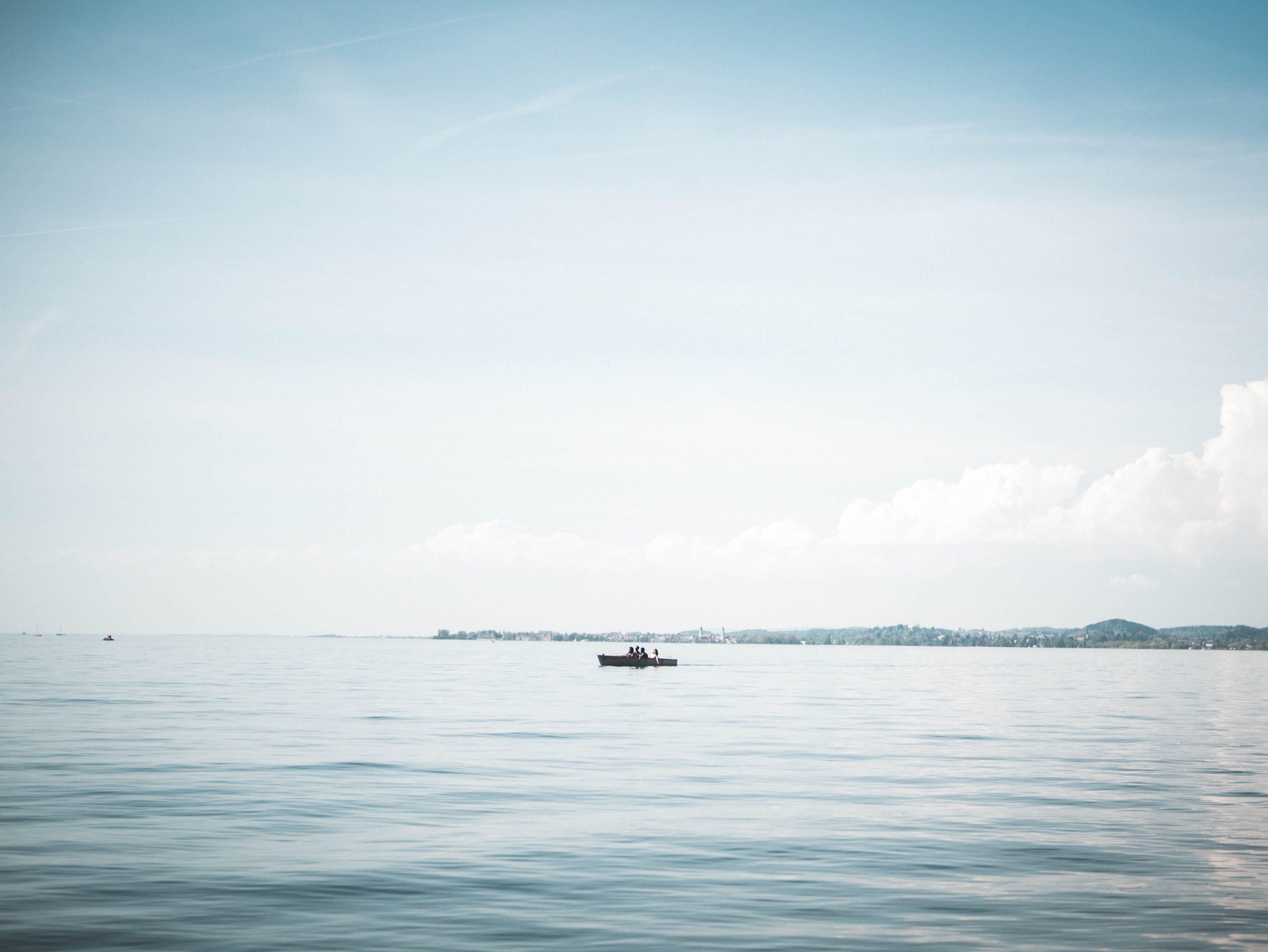 blau, boot, bucht