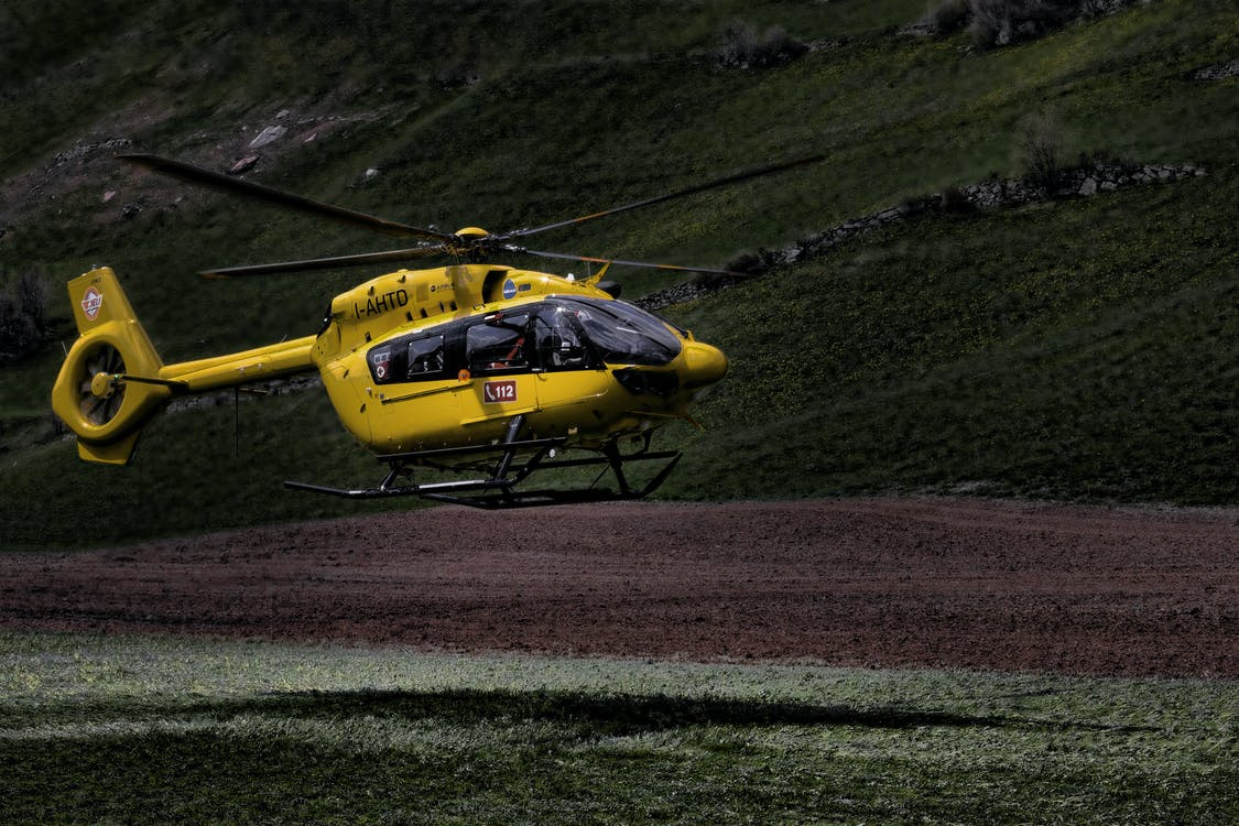 Yellow and Black Helicopter