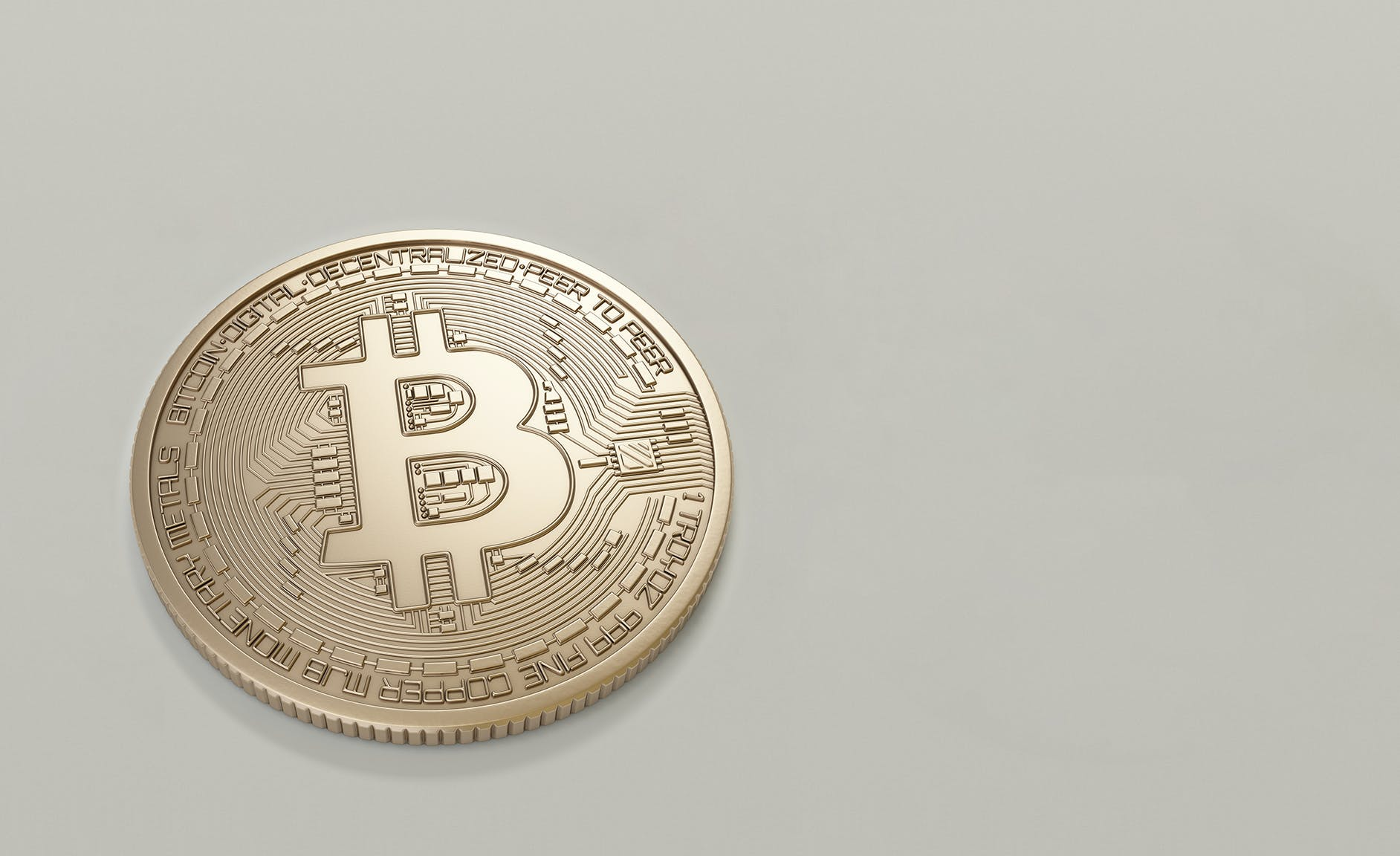 Round Gold-colored Bitcoin