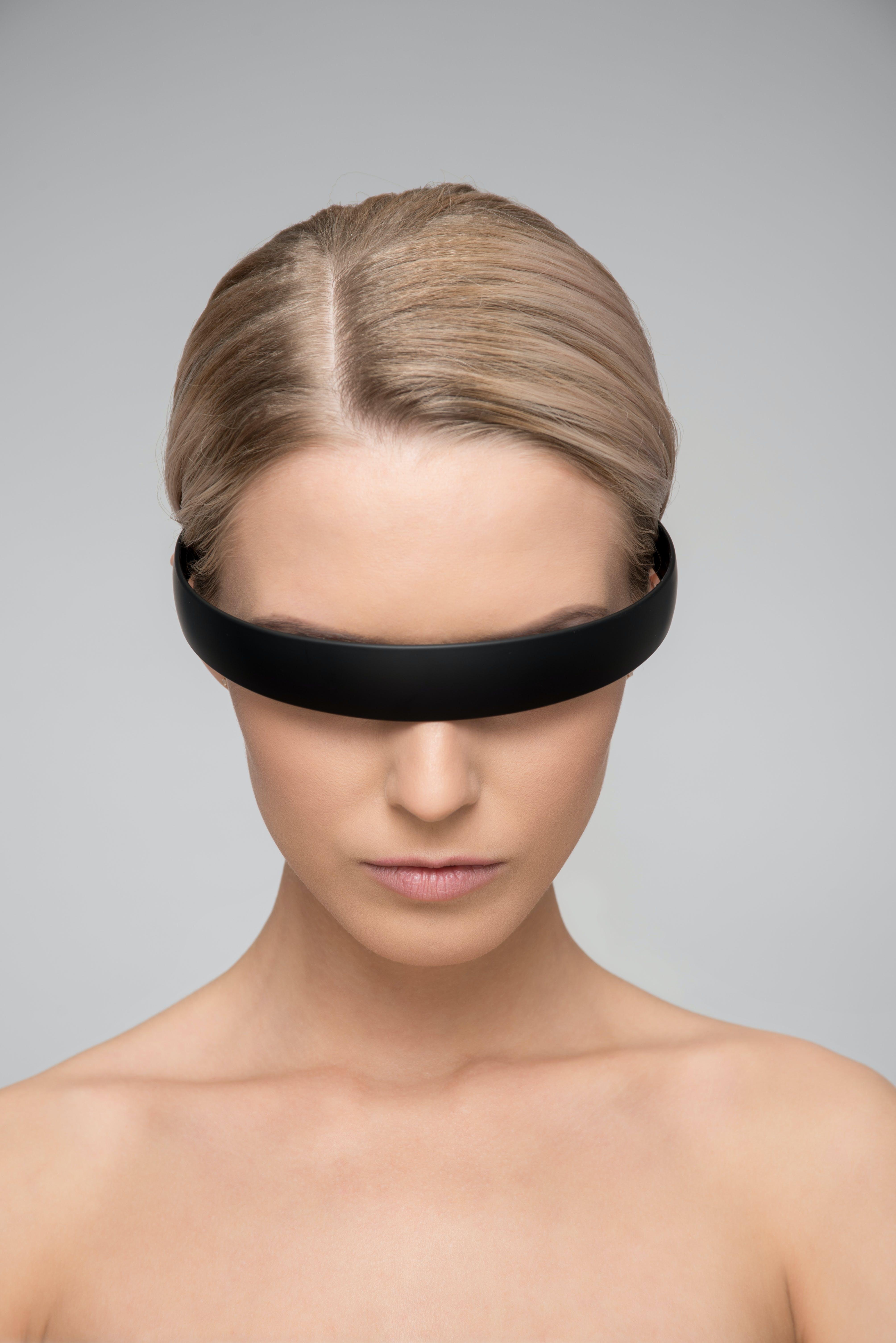 Topless Woman Wearing Black Headband