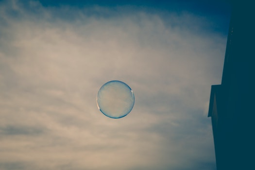 Water Bubble on Air during Daytime