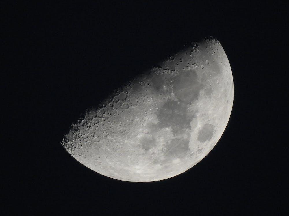 Free stock photo of half moon, moon, moonlight