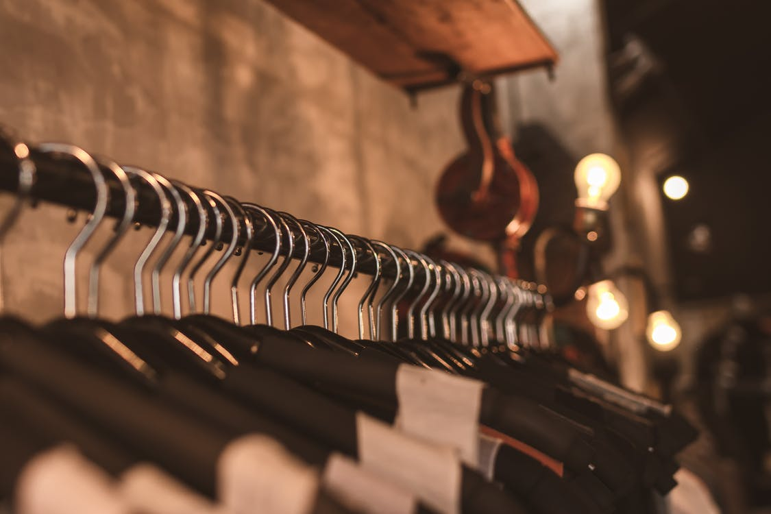 butik, garderoba, kolory