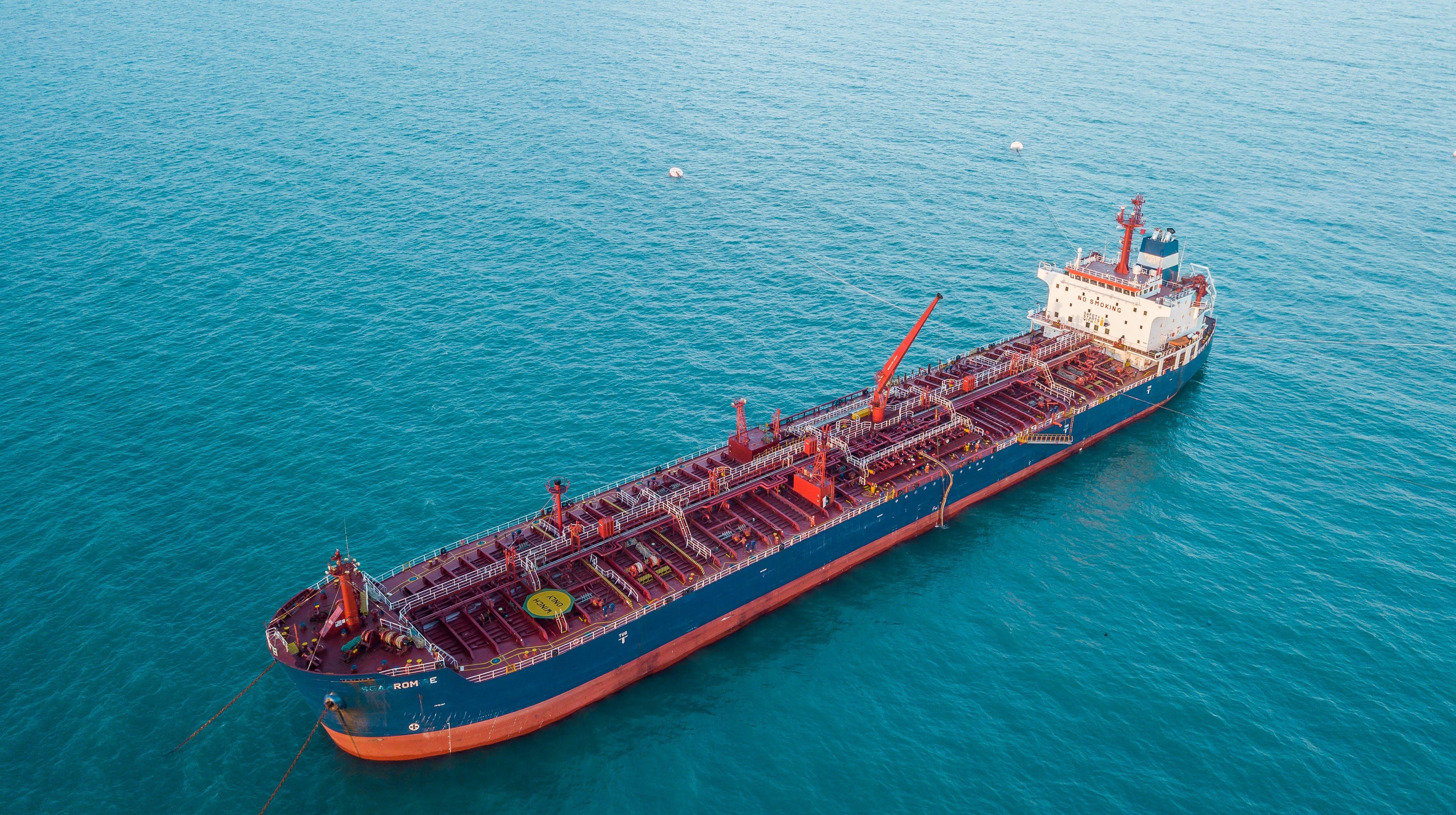 cargo ship, sea, ship