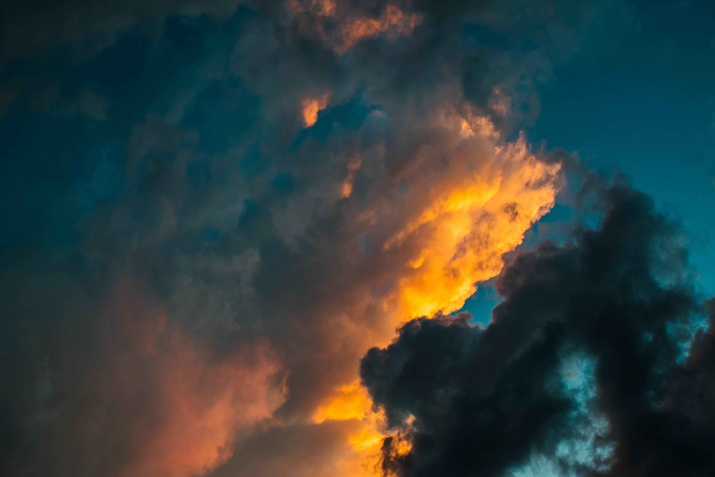 Orange, Black, and Blue Skies during Sunset
