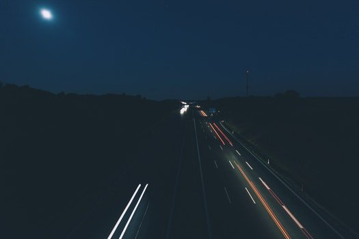 Cars on Road in Long Exposure Photo