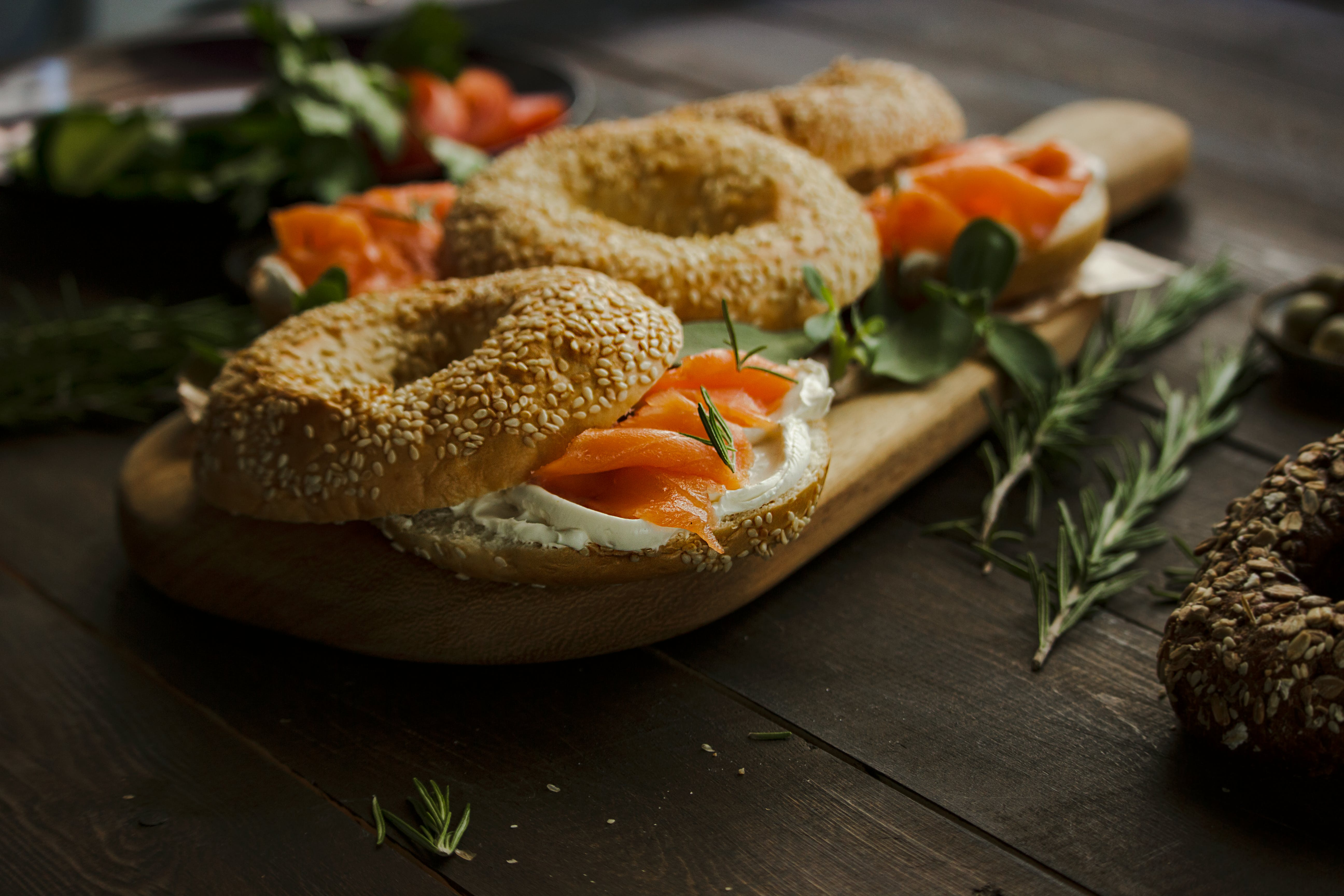 Bagel With Vegetables