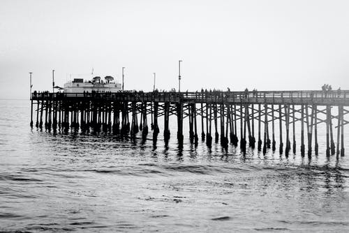 ビーチ, 桟橋, 波, 海洋の無料の写真素材
