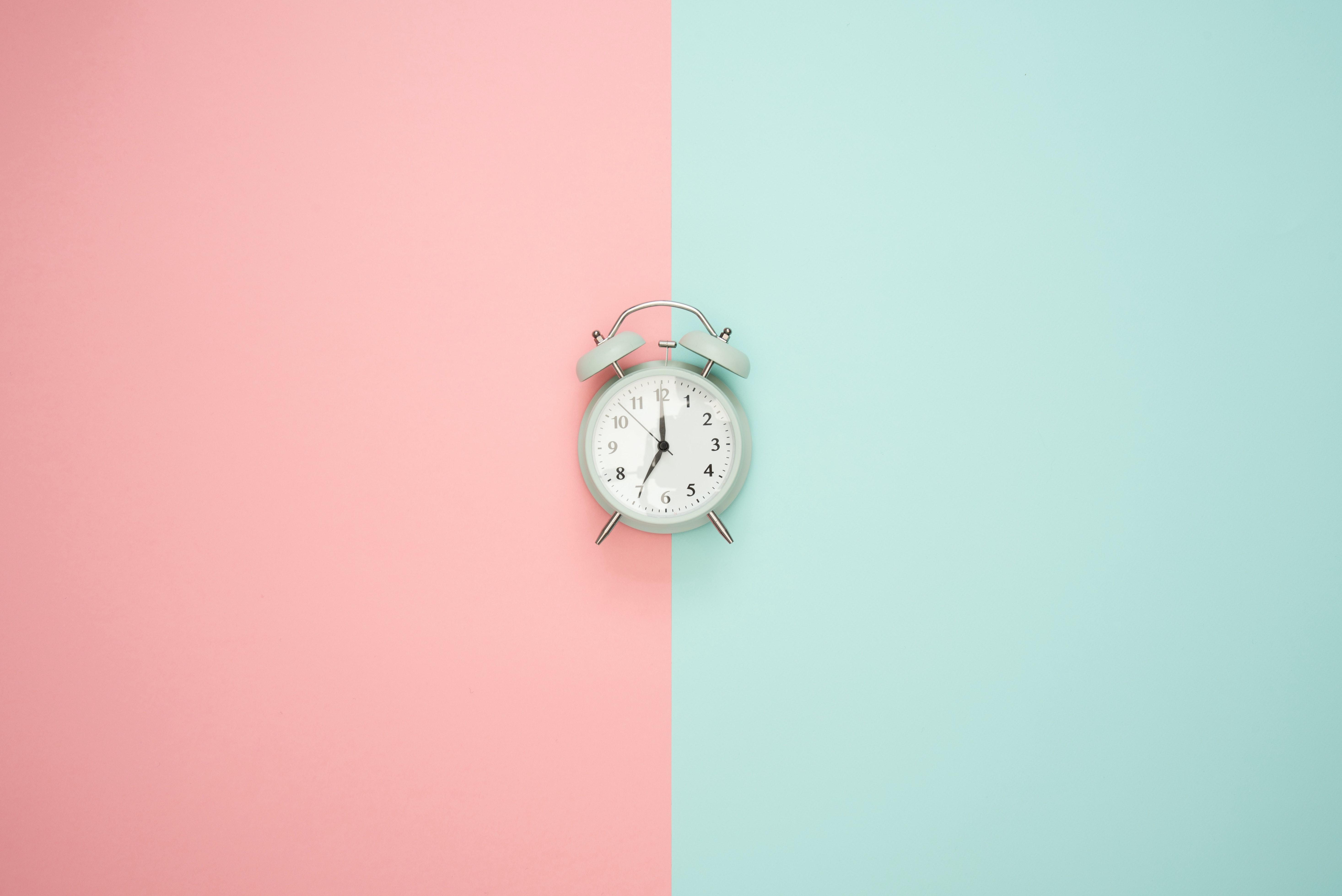 Gray Double-bell Clock · Free Stock Photo