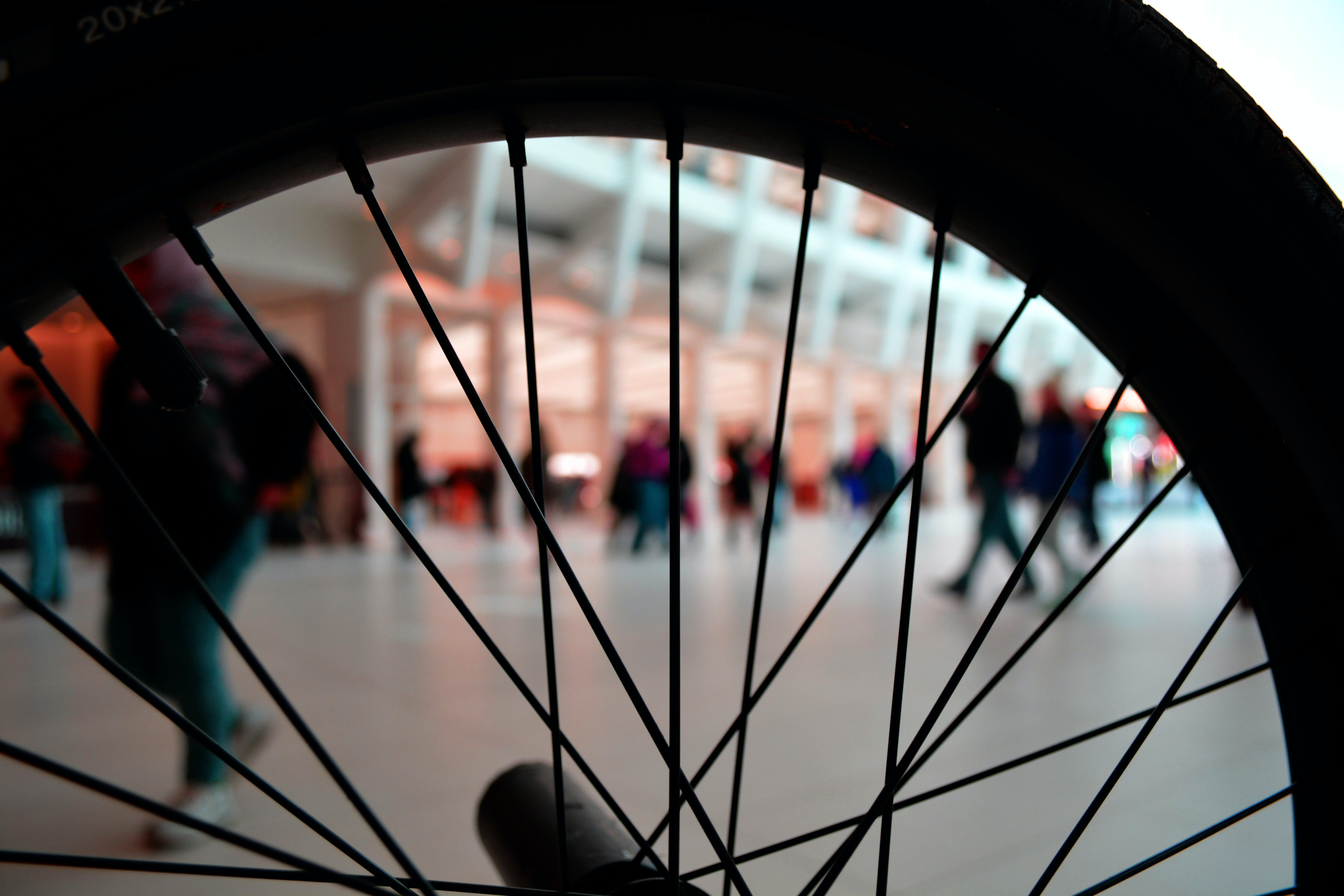 Silhouette of Bicycle Wheel