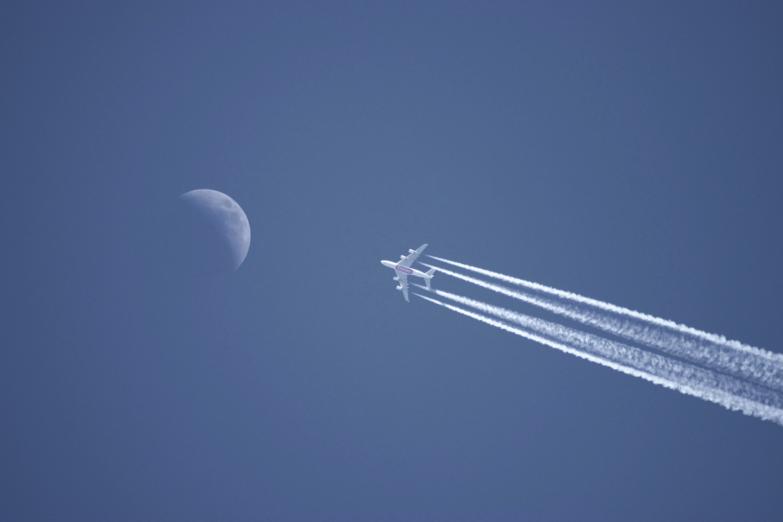 Ingyenes stockfotó ég, fény, hold, kék ég témában