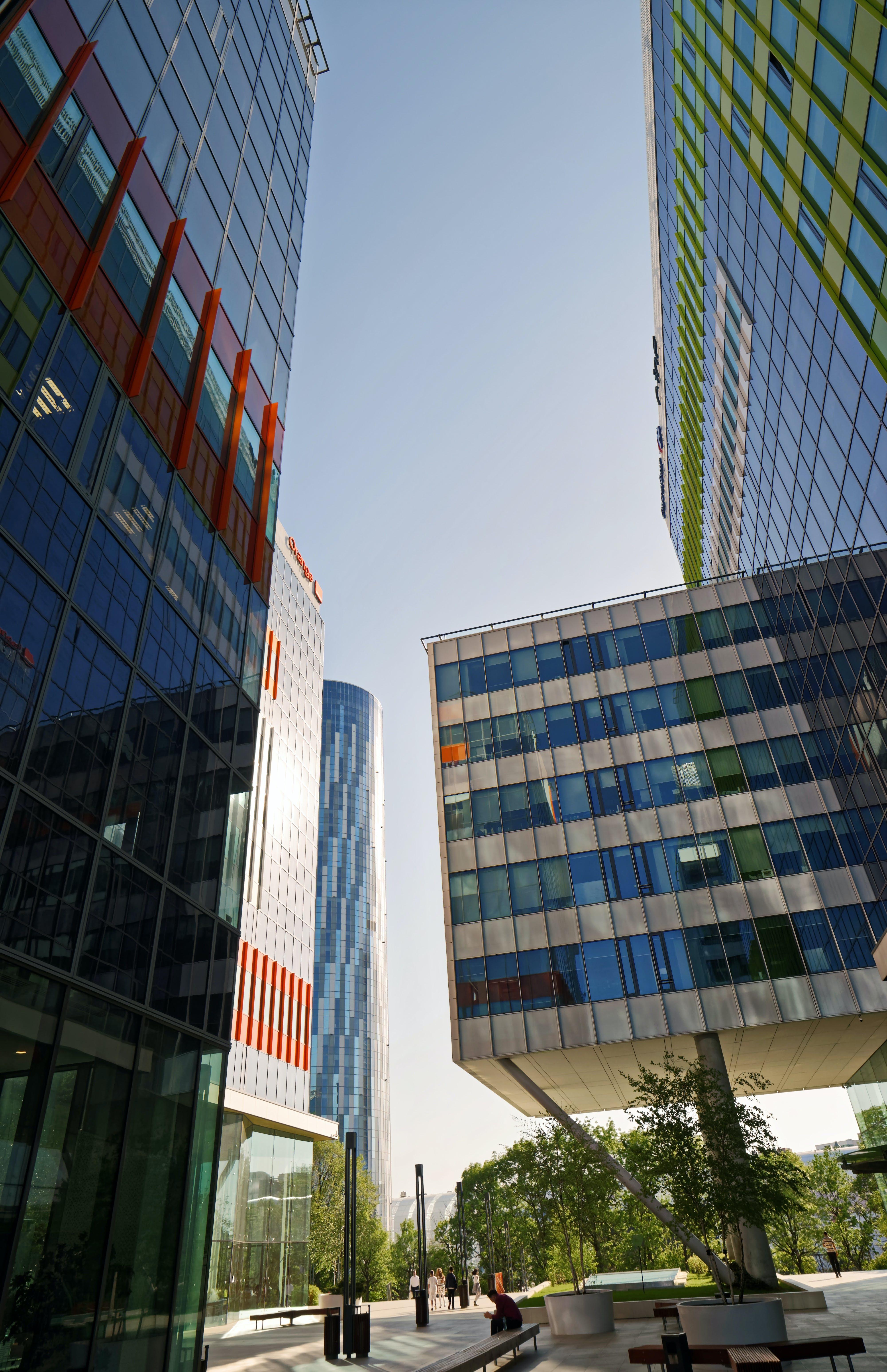 Blue High-rise Buildings