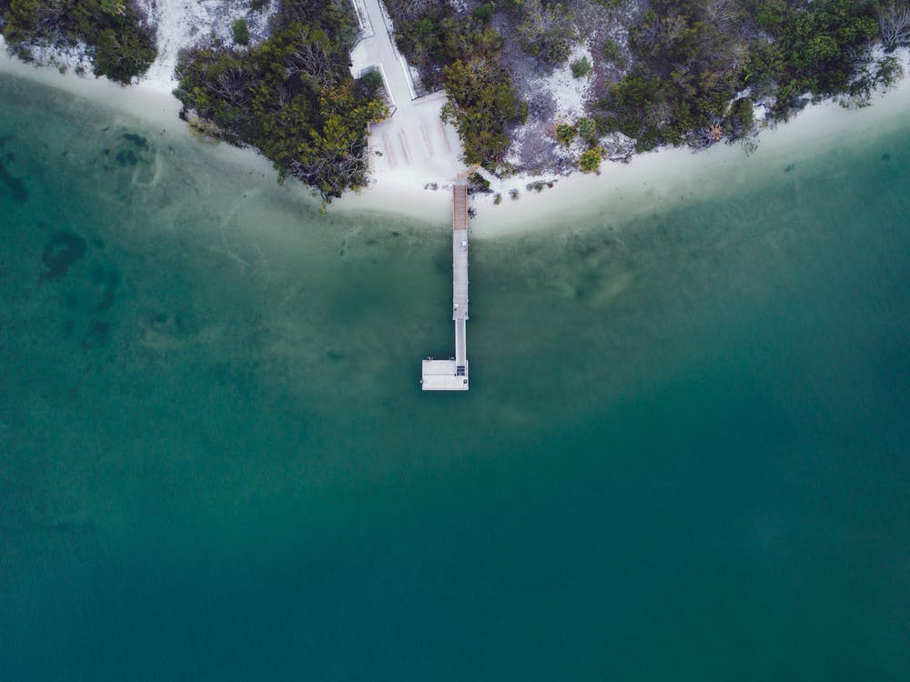 Aerial Photography of Dock on Body of Water