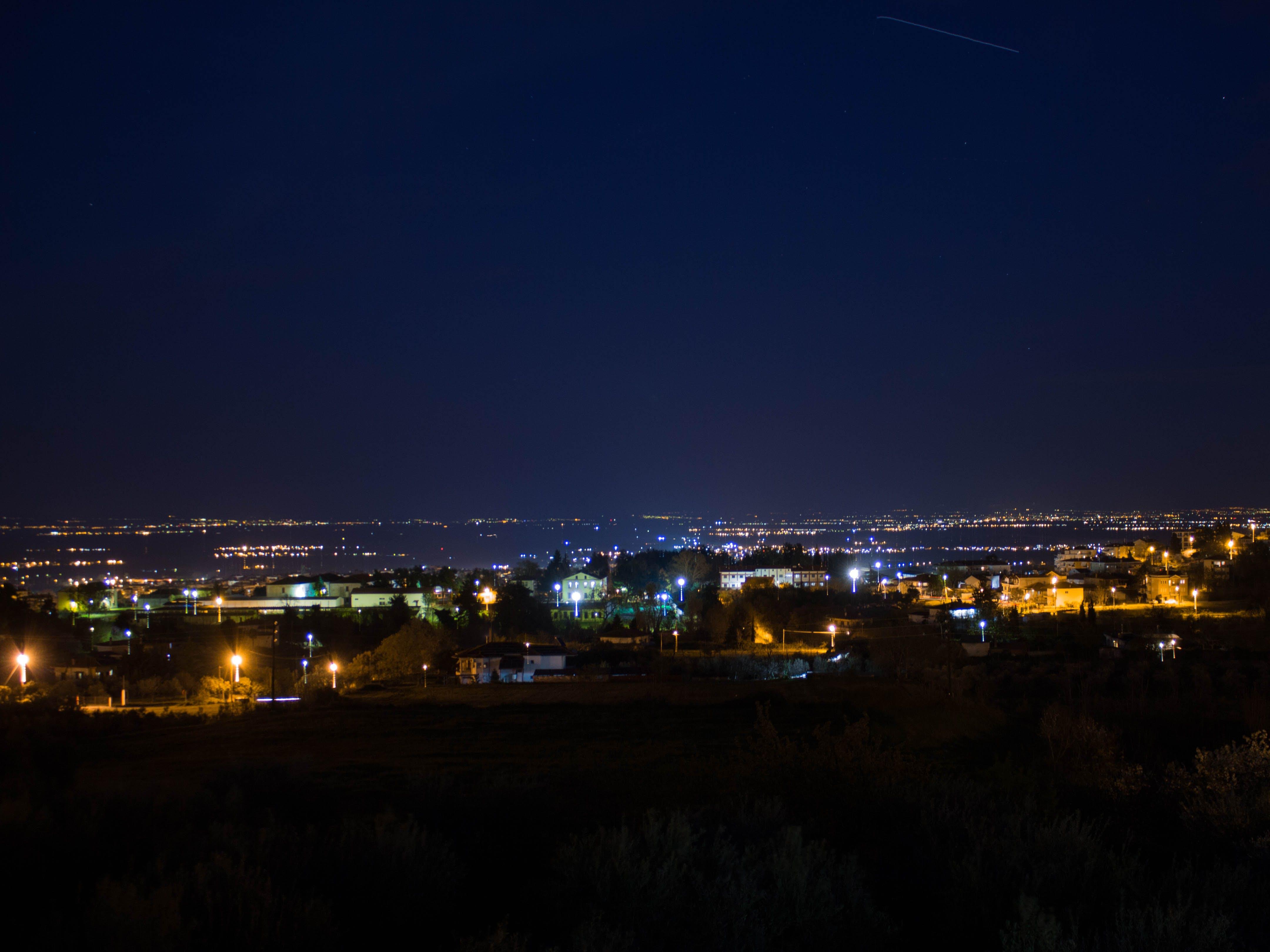 Kostenloses Stock Foto zu griechenland, lichter der stadt, nacht, nacht lichter