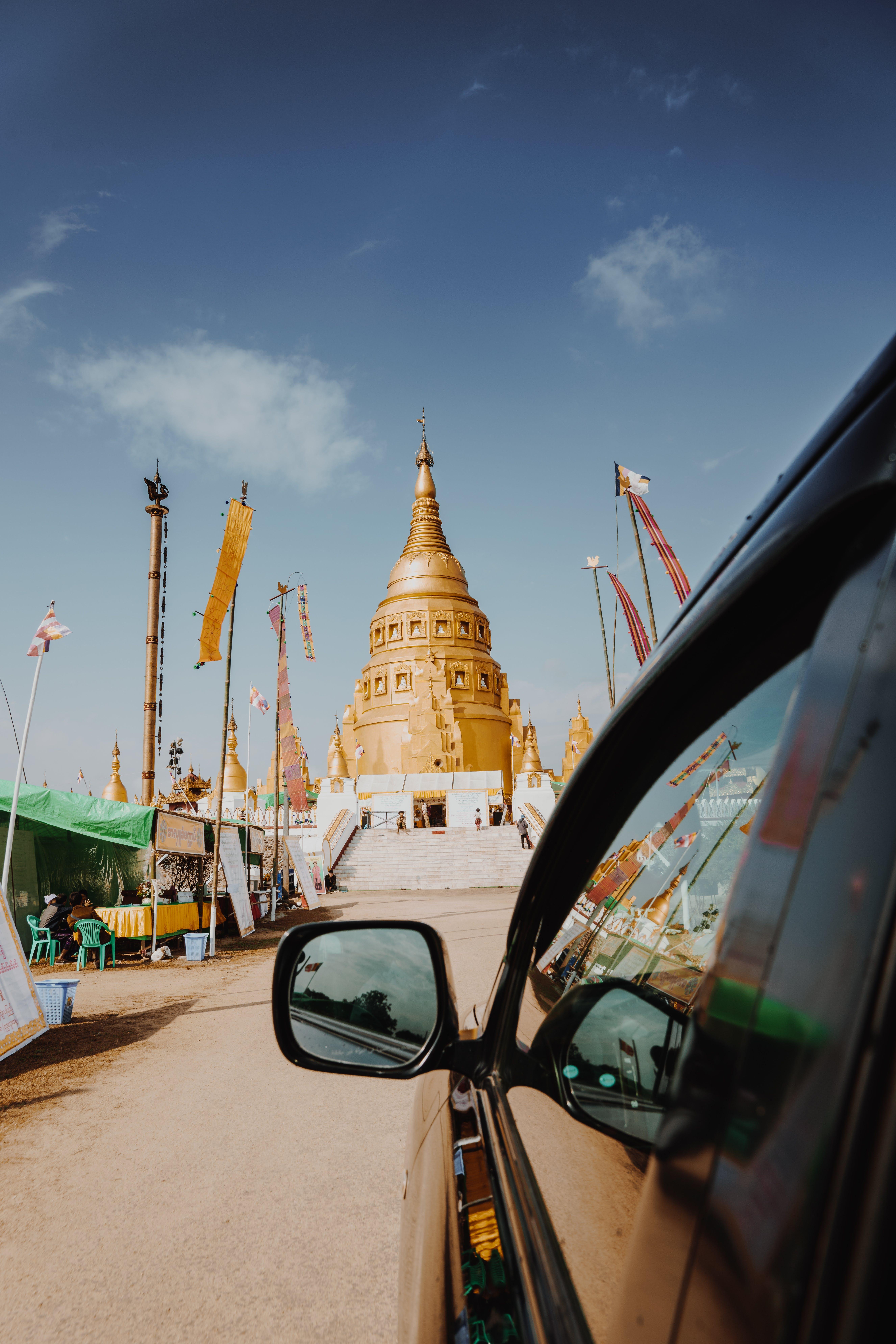 Brown Hindu Temple Under Blue Sky