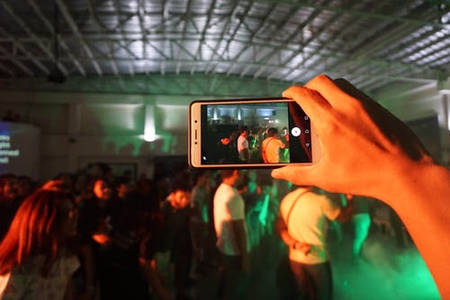 Free stock photo of capture, cellphone, church, concert