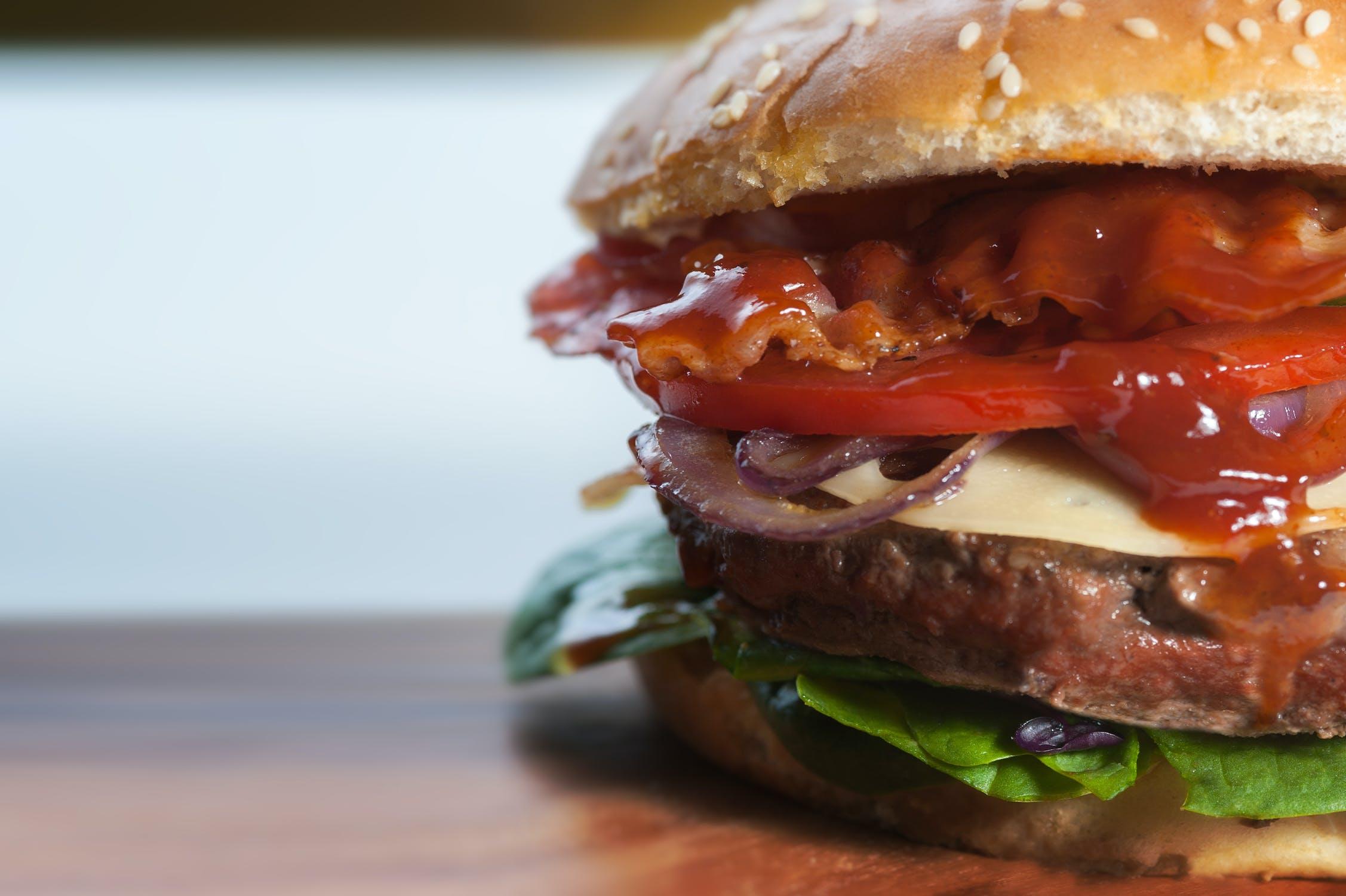 A burger.