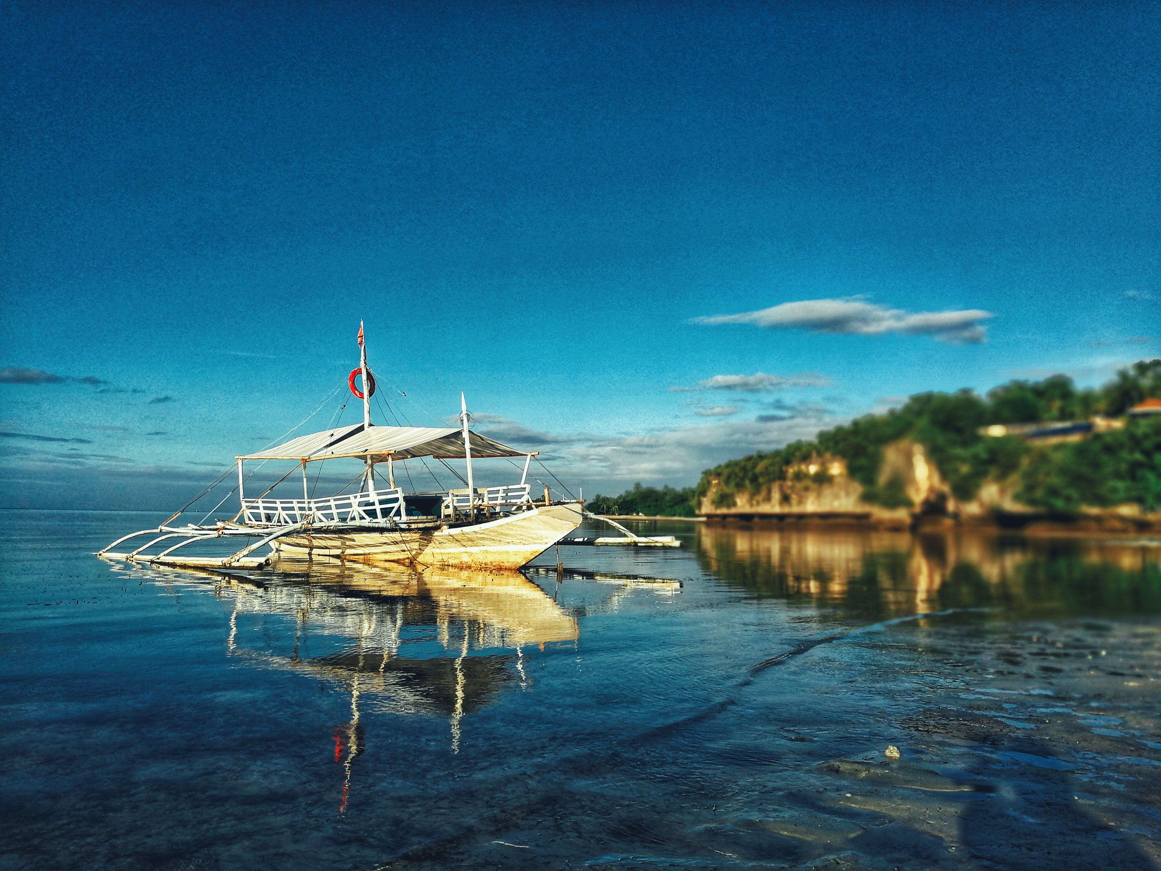 Free stock photo of boat, by the sea, early morning, Philippines