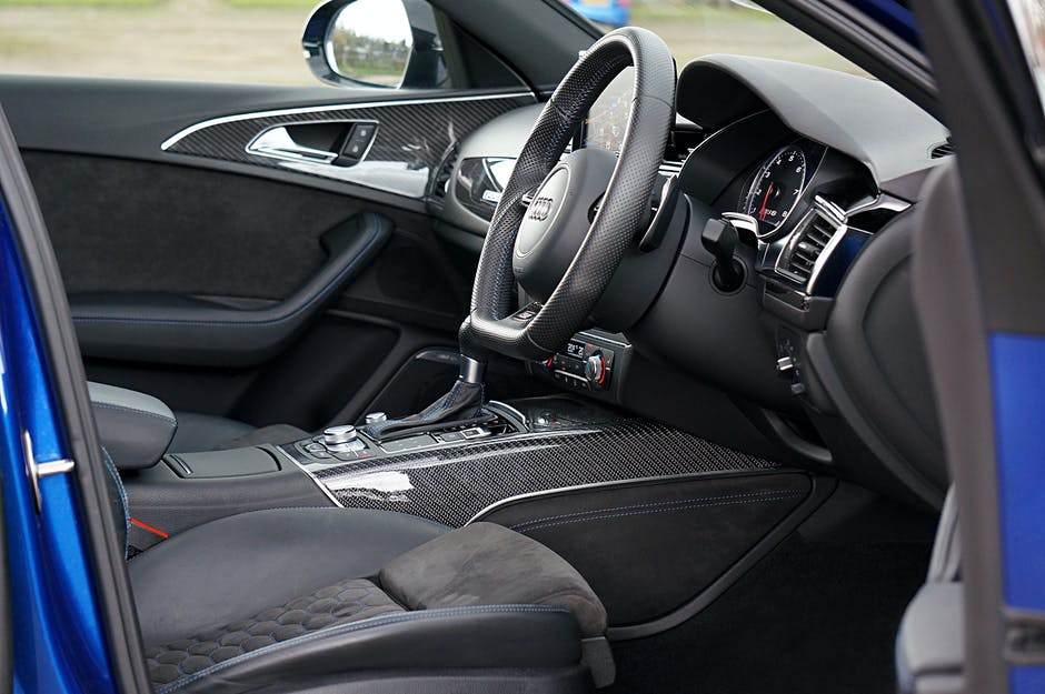 Brown vehicle interior