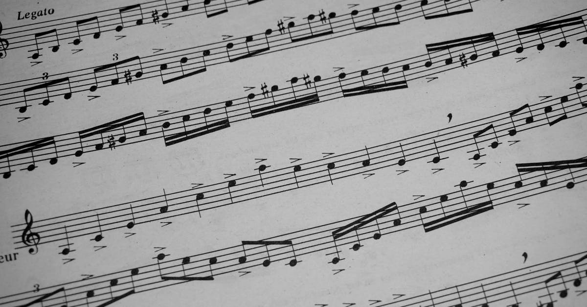 Free stock photo of music notations, musical notes, notation