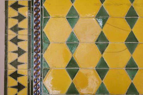 기하학, 기하학적 모양, 기하학적 패턴, 노란색의 무료 스톡 사진