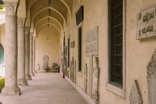 コラム, 壁, 外観, 廊下の無料の写真素材