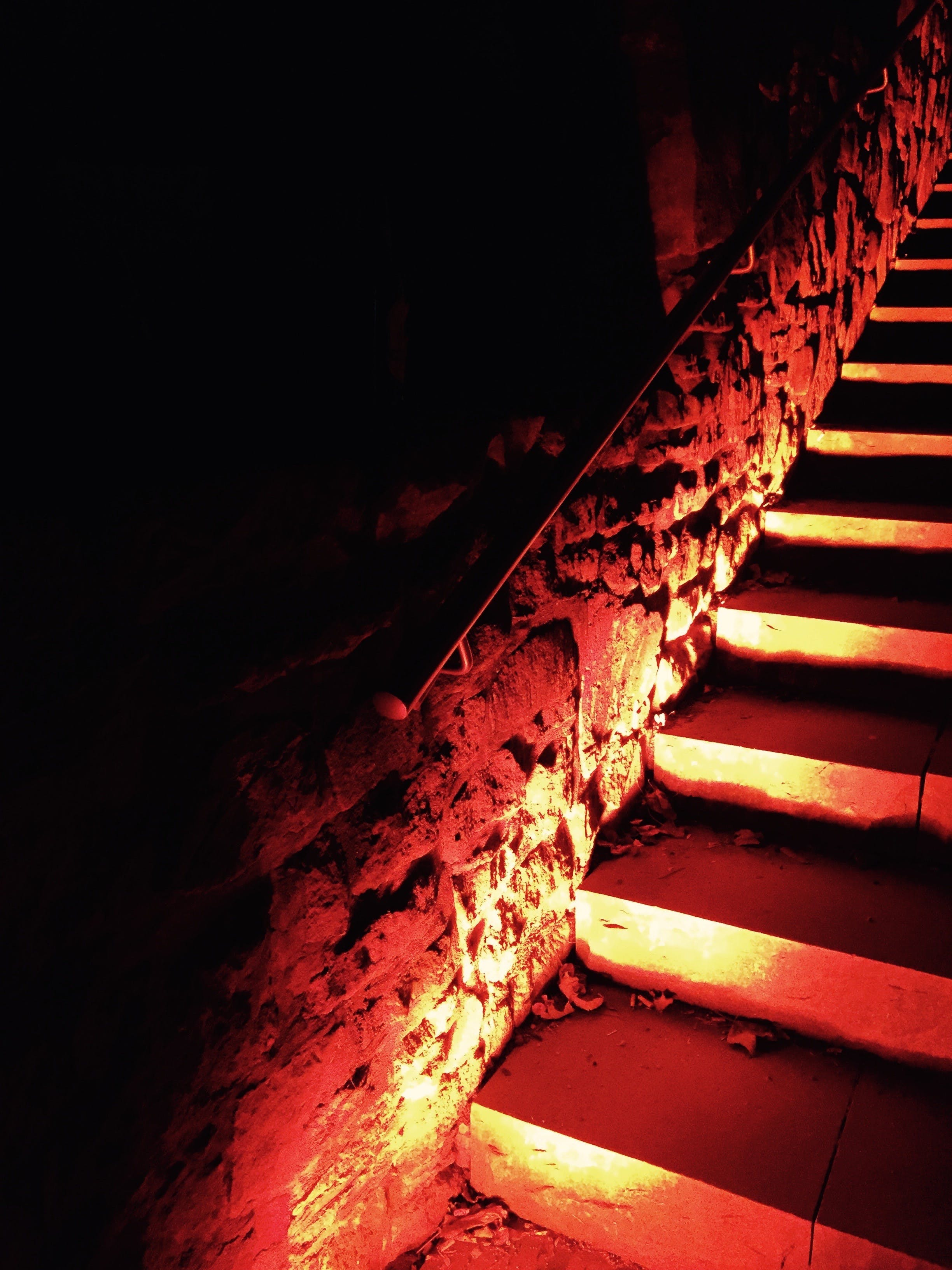 Photo of Lit Stairs