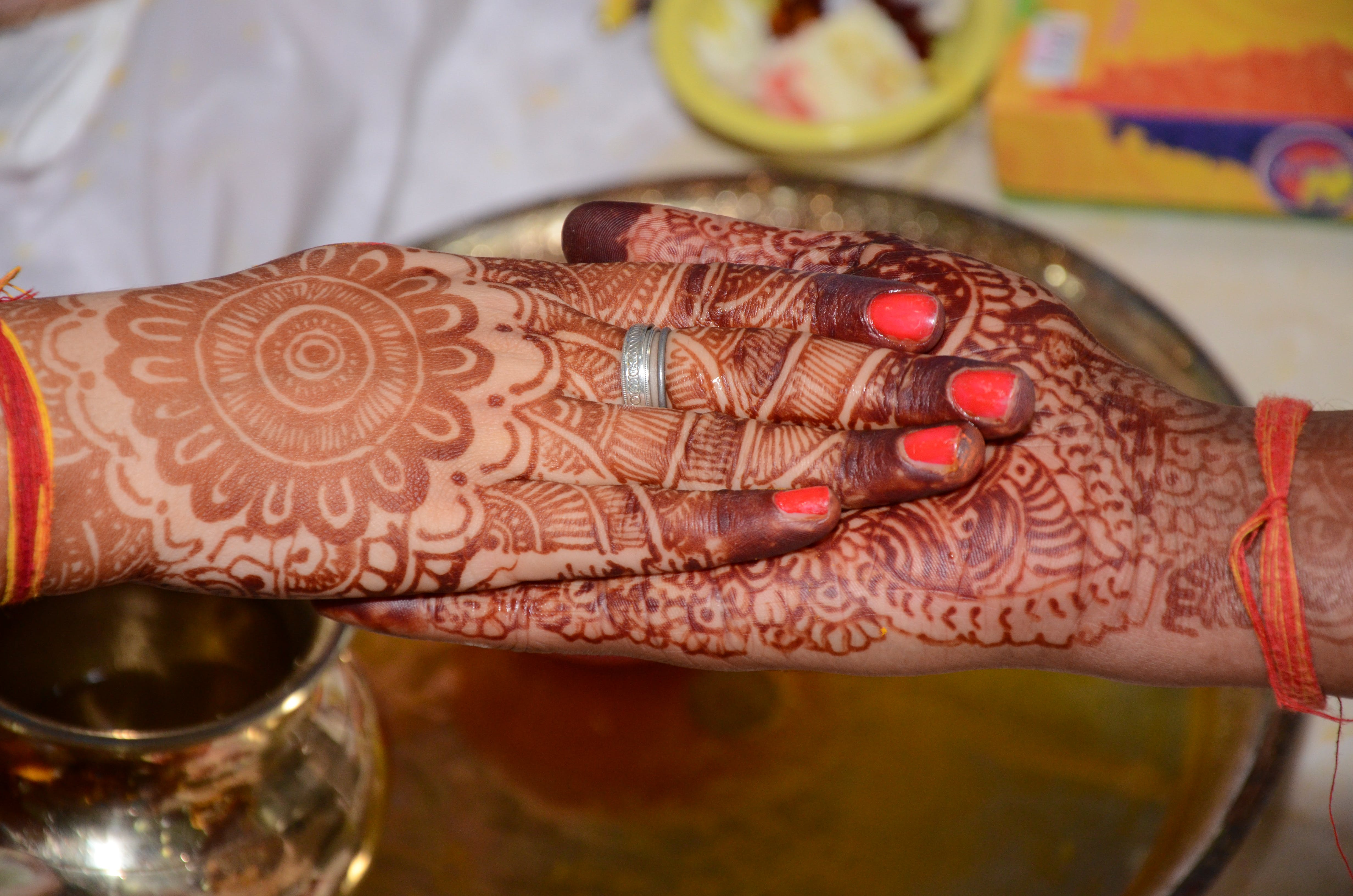 Free stock photo of dulhan, hand, wedding, wedding bouquet