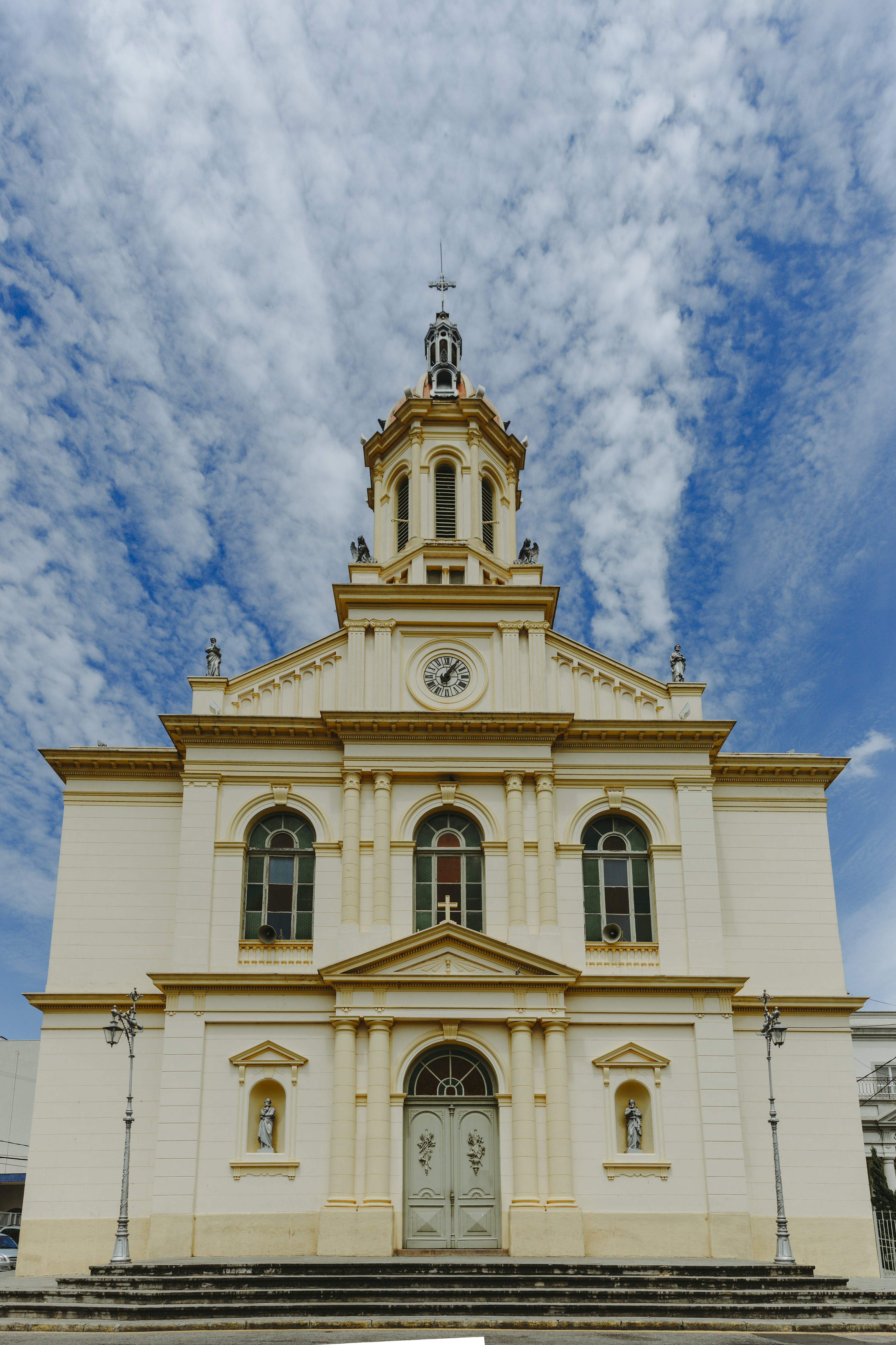 White and Yellow Painted Cathedral