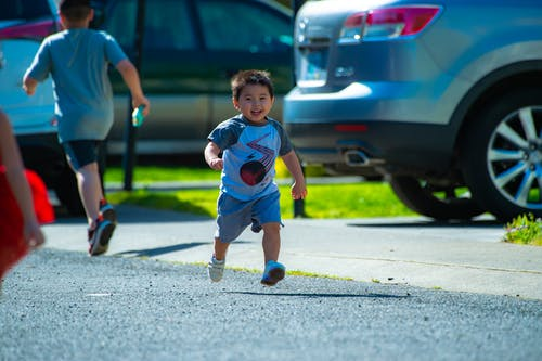 Photography of a Kid Running