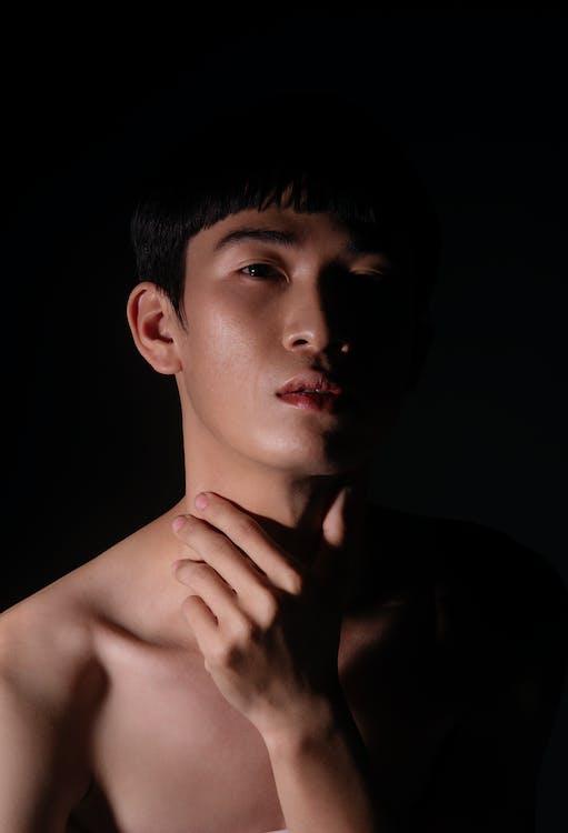 ansigtsudtryk, asiatisk mand, asiatisk person