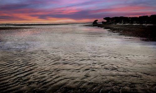 Ingyenes stockfotó kék óra, naplemente, piros ég témában