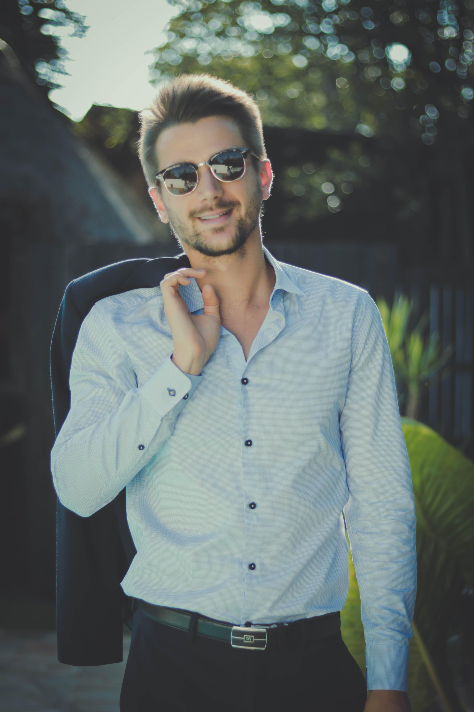 Free stock photo of businessman, fashion, suit, sunglasses