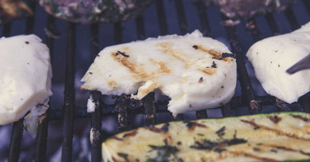Green Grilled Sliced Cucumber on Black Grill