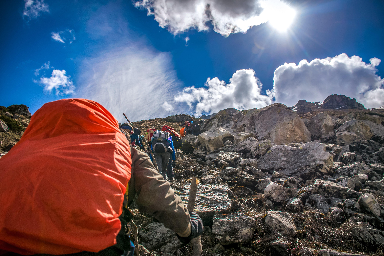 People Hiking on Mountain