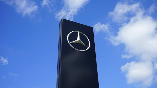 Free stock photo of black, mercedes, blue sky, design